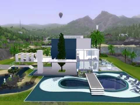 Modern beach house the sims 3 youtube for Modern house design the sims 3