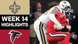 Saints vs. Falcons | NFL Week 14 Game Highlights