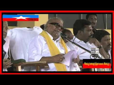 DMK leader M. Karunanidhi's 90th Birth Day Speech part 2  03/06/2013
