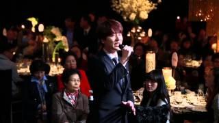Kyuhyun singing at his sister's wedding (Cho Ahra)