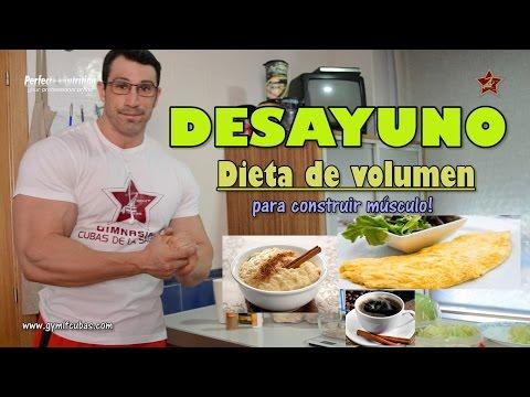 Dieta Volumen Luis García: DESAYUNO