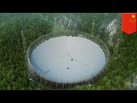 China's gigantic 1.2 billion yuan radio telescope now ready to listen for aliens - TomoNews