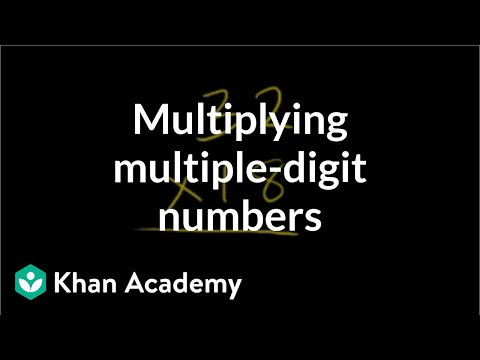 Multiplication 6: Multiple Digit Numbers