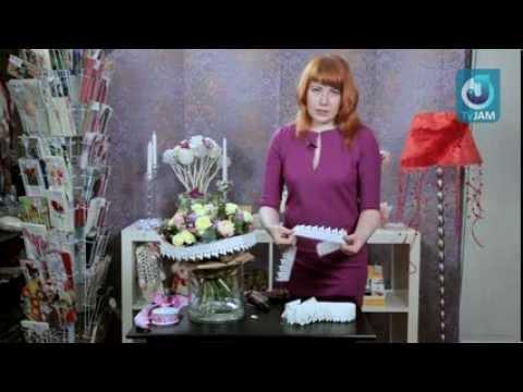 Мастер класс флориста букет к 8 марта в винтажном стиле