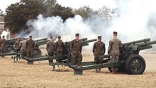 President's Day 21-GUN SALUTE! (W.P.T. Field on Marine Corps Base Camp Lejeune, Feb. 19, 2018!)