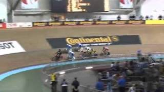 International Keirin 2005 1stage  Chris Hoy, Theo Bos, Jan Van Eijden, Shane Kelly .avi