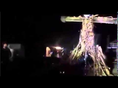 John Key effigy burning