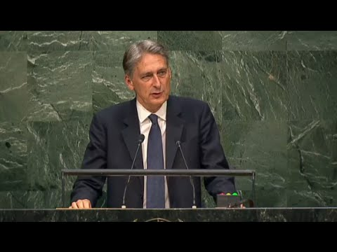 UK Foreign Secretary Philip Hammond speaks at 70th UNGA session