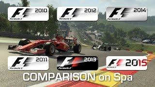 From F1 2010 to F1 2015 - Spa-Francorchamps (Dry)