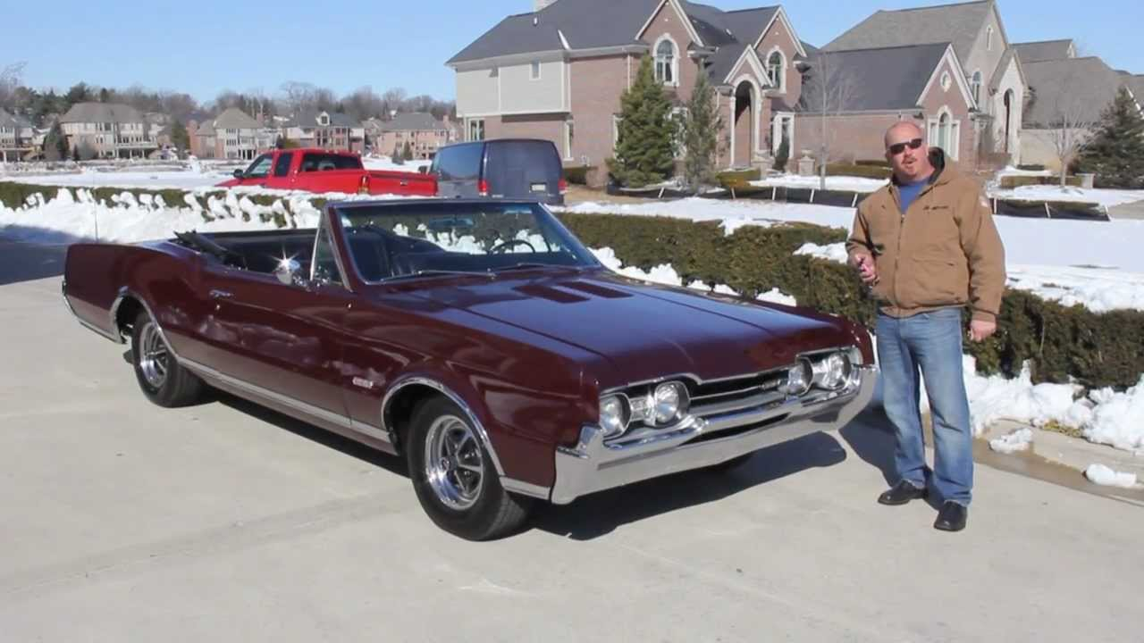 1967 oldsmobile 442 convertible classic muscle car for sale in mi vanguard motor sales youtube. Black Bedroom Furniture Sets. Home Design Ideas