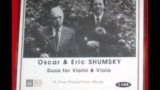 Oscar and Eric Shumsky - Violin and Viola Duets