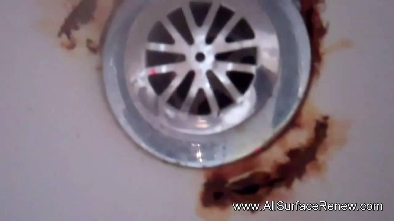 Fixing Rusted Bathtub Drain YouTube