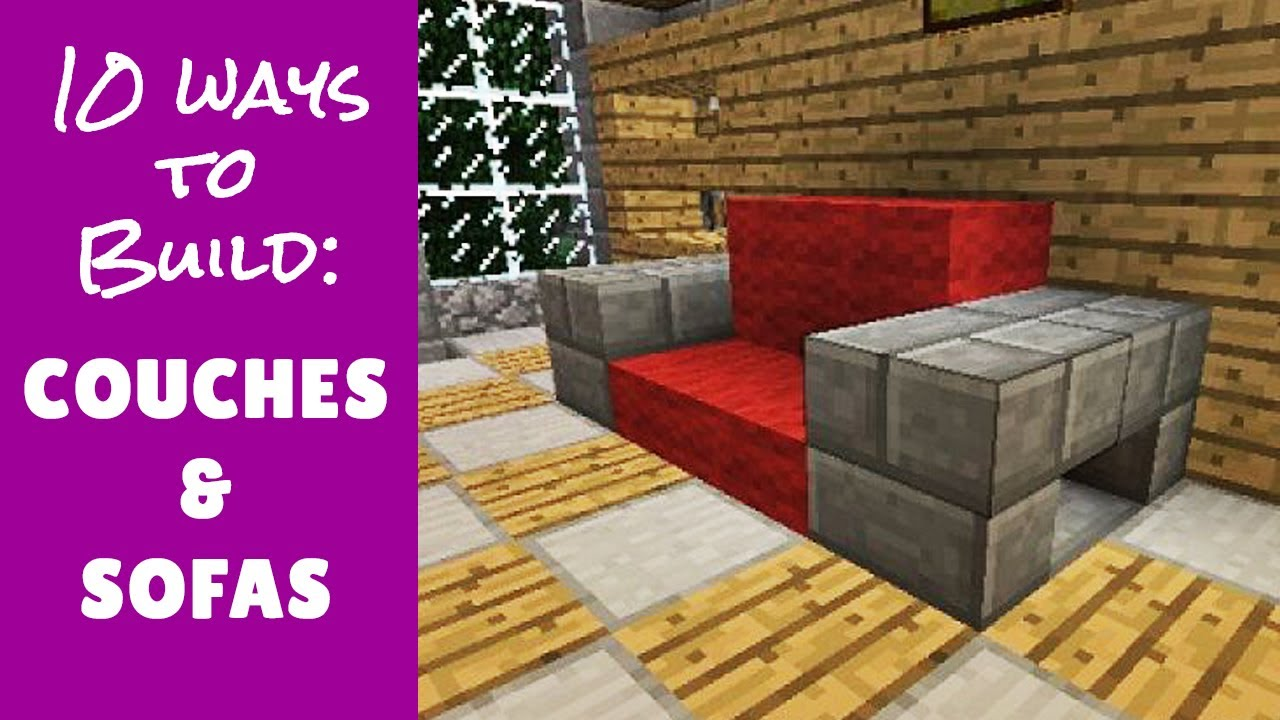 Minecraft Furniture Couches Youtube