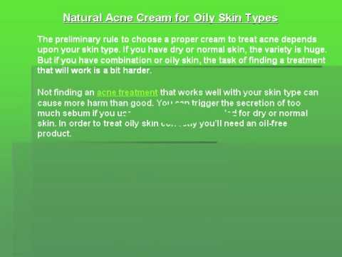 Natural Acne Cream for Oily Skin Types