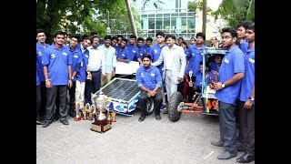 Solar vehicle|Solaris India|New Solar Car|Sri Sairam Engineering Students|Saurya Urja competition|