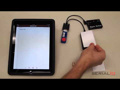 iPad, iPhone, iTouch NFC reader scans RFID tag data into any iOS app
