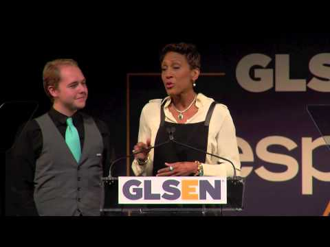 Robin Roberts and Liam Arne at the 2014 GLSEN Respect Awards - New York