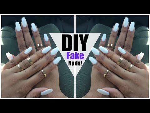 DIY: EASY FAKE Nails at HOME! (NO ACRYLIC)