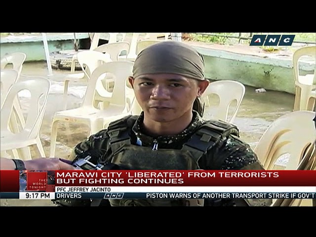 Marawi City 'liberated' but fighting continues
