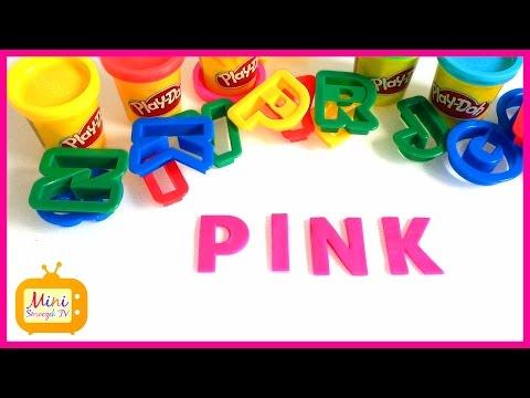 Nauka Angielskiego - Kolory Po Angielsku - Słowa Z Ciastoliny - RÓŻOWY - Angielski Dla Dzieci