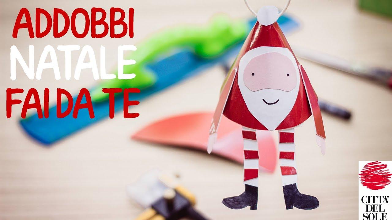 Addobbi natale fai da te di carta per bambini babbo - Decorazioni natalizie fatte a mano per bambini ...