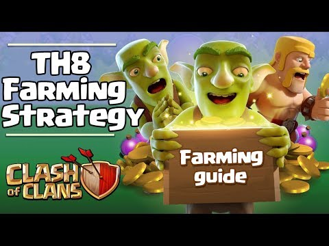 THE BEST TOWN HALL 8 FARMING ATTACK STRATEGIES!! [MAX TH8 QUICKLY with Top 3 Farming Attack Strats]
