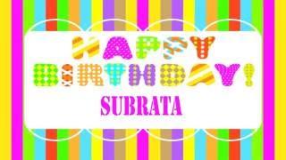 Subrata bengali pronunciation   Wishes & Mensajes - Happy Birthday