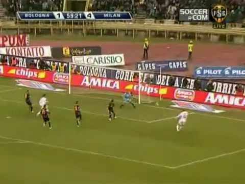 david beckham first goal for ac milan