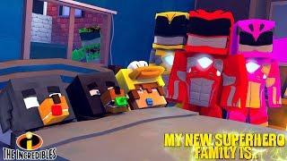 Minecraft MY NEW SUPERHERO FAMILY IS....... THE POWER RANGERS!!