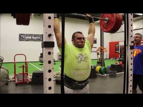 Big Mike Push Press (Strongman Training for Nationals) Image 1