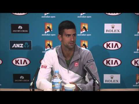 Novak Djokovic press conference - 2014 Australian Open