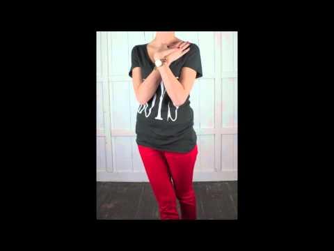 """Zoe karssen Boyfriend fit tee """"boys""""(ZK SS11 015) By Denimplus"""