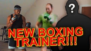 MY NEW BOXING TRAINER
