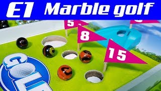 Marble race: Mini Golf E1 - Championship with countries balls