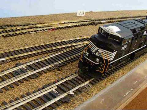 CHECK IT OUT! PT.2 MTH SD70M-2 Norfolk Southern #2651 ACTION on HUGE HO SCALE LAYOUT!!!