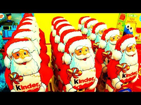 15 Christmas Kinder Surprise Santa Claus Army Surprise Toys Xmas Eggs Mega Unboxing Huevos