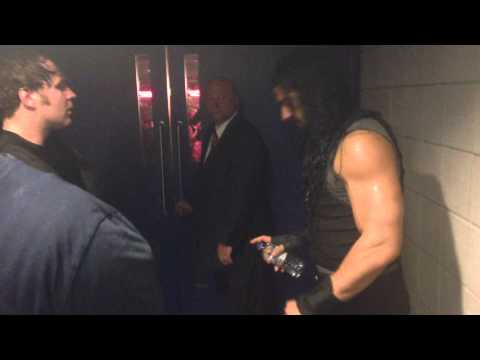 WWE The Shield Backstage on Raw O2 Arena London