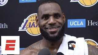 LeBron James interview after first Lakers practice | ESPN