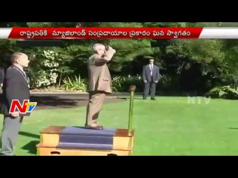 New Zealand Tour: Grand Welcome for President Pranab Mukherjee || NTV