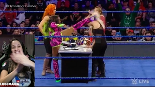WWE Smackdown 2/7/17 Women Dual Contract Signing !