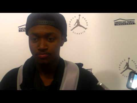 Shamorie Ponds Jordan Brand Classic post game