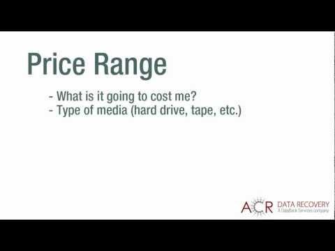 Data Recovery Price Range