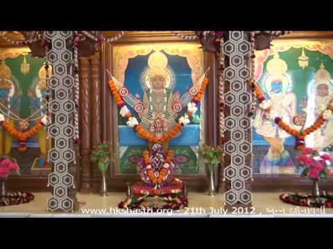 Hkshastri Hindola Darshan Ann Darshnavali - 21 July 2012 Shree Swaminarayan Temple, Gandhinagar video