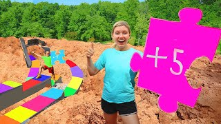 GIANT Backyard BOARD GAME CHALLENGE!! (DIY Homemade Riddle Clues Lead to Pond Monster Escape Room)