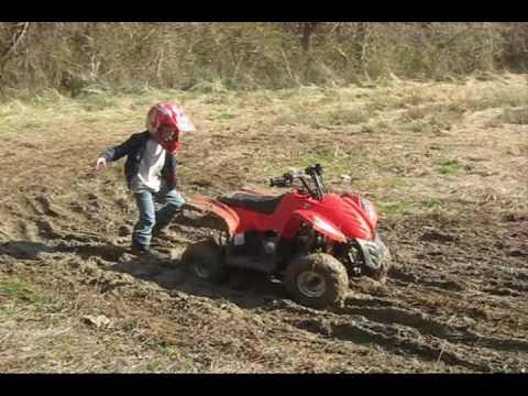 Kids Mudding on their 4-wheelers - YouTube