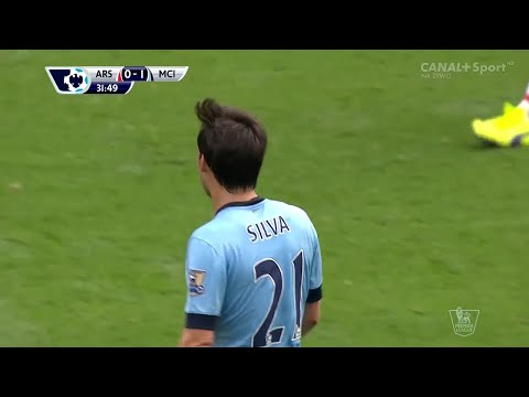 David Silva vs Arsenal (A) 2014-2015 EPL HD