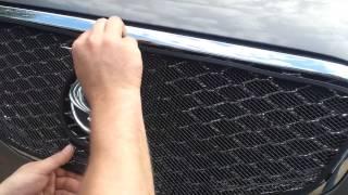 Видео: Защитная сетка радиатора Ssang Yong Actyon C200 2010 black