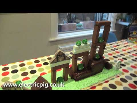 Playable Angry Birds Birthday Cake video