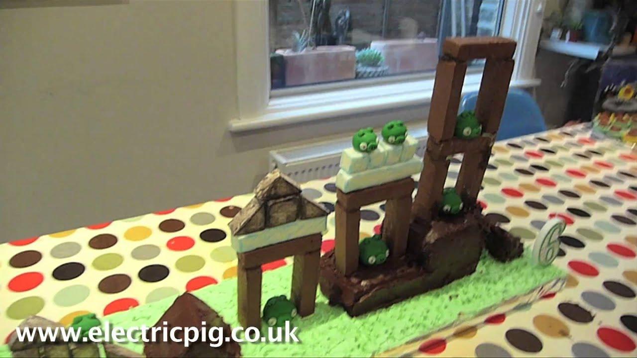 Como hacer un pastel de cumpleaños de Angry Birds