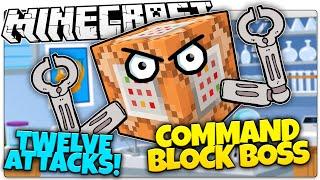Minecraft   COMMAND BLOCK BOSS BATTLE!   Kill Evil Command Blocks! (Minecraft Vanilla Boss Mod)